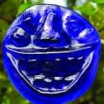Recycled Cobalt bottle glass &#039;Bubba&#039; Suncatcher