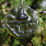Recycled yellow bottle glass &#039;Bubba&#039; suncatcher