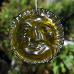 Yellow recycled bottle glass Suncatcher