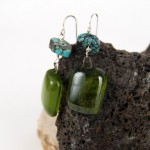 Recycled Bottle Glass Earrings