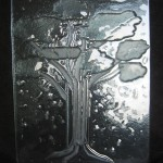 Tack Fused Recycled Glass - Ginko Tree