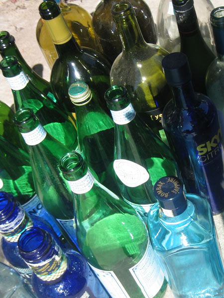 Bottles before the fusing starts